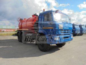 Вакуумная автоцистерна АКН-10 на шасси КАМАЗ 43118