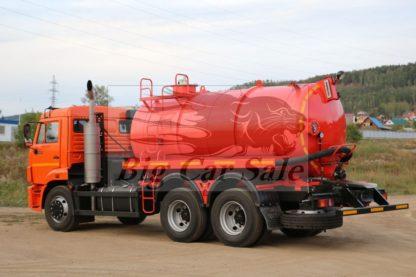 Нефтепромысловая вакуумная цистерна АКН-10-КАМАЗ 65115