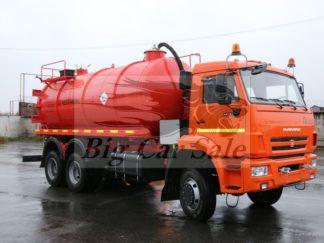 Нефтепромысловые вакуумные автоцистерны АКН-15 на базе КАМАЗ 65111