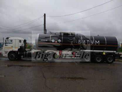 Трёхосный тягач КАМАЗ и полуприцеп НЕФАЗ для перевозки битума с утеплением и подогревом
