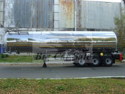 Стальная полуприцеп цистерна ППЦН-38 НЕФАЗ 96897-02 для тёмных нефтепродуктов
