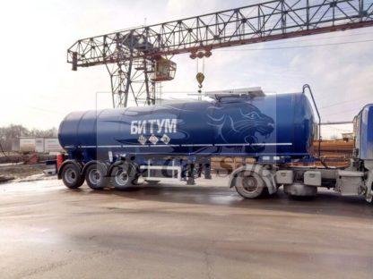 Полуприцеп-цистерна для перевозки битума с утеплением