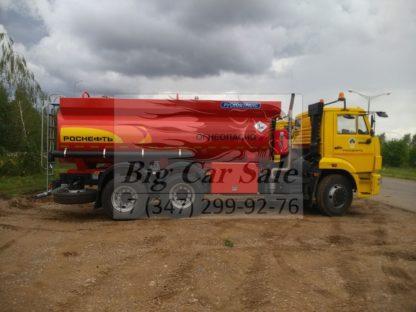 Стальной бензовоз Рускомтранс на шасси КАМАЗ 65115
